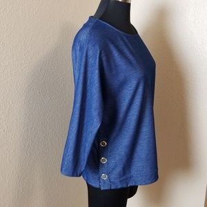 Chicos 3/4 Sleeve Blue Blouse